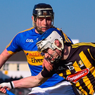 Luke Scanlon, seen here in action against Tipperary's Alan Flynn, is making his mark for Kilkenny this year. Photo: Sportsfile