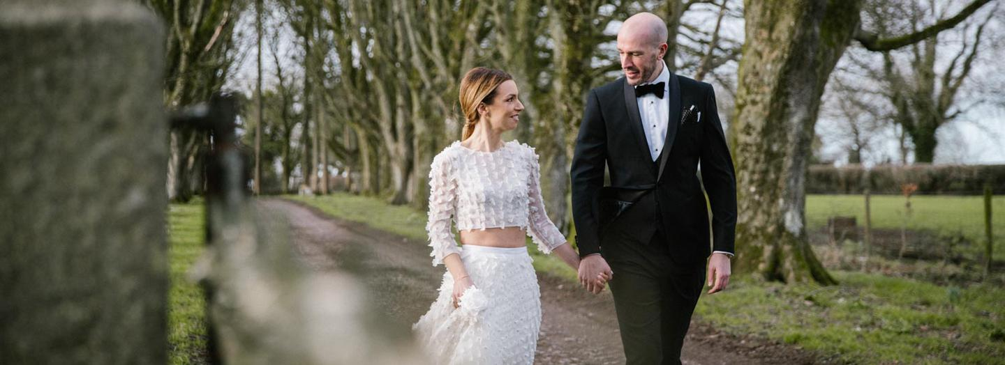 Real irish weddings local celebrity news and videos thevow real wedding a seriously stylish bride at clonabreany house junglespirit Gallery