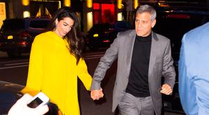 George Clooney and Amal Clooney are seen in SoHo on April 6, 2018 in New York City. (Photo by Gotham/GC Images)