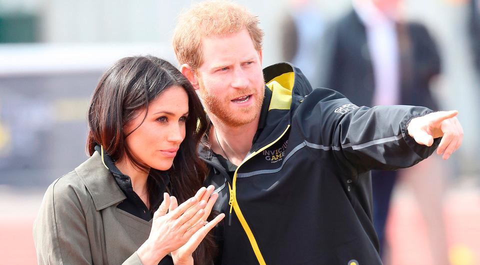 Meghan Markle and Prince Harry, Patron of the Invictus Games Foundation attend the UK Team Trials for the Invictus Games Sydney 2018 at the University of Bath Sports Training Village on April 6, 2018 in Bath, England