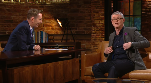 Joe Brolly (right) with Ryan Tubridy.