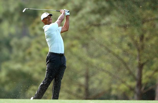 Tiger Woods back to his best with a stunning round of 65 (Photo by David Cannon/Getty Images)