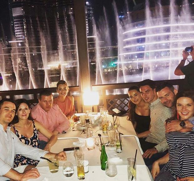Couples night (L to R): Jonny and Laura Sexton, Claire and Sean Cronin, Robyn Flanagan and Joey Carbery, Fergus and Rebecca McFadden. Picture: Instagram