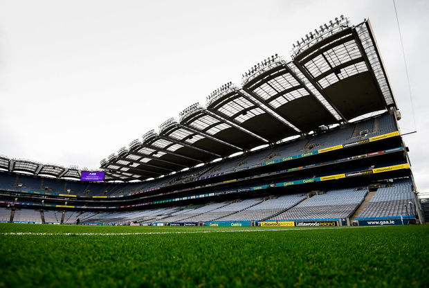 1 April 2018; A general view of the Hogan Stand prior to the Allianz Football League Division 1 Final match between Dublin and Galway at Croke Park in Dublin. Photo by Stephen McCarthy/Sportsfile