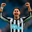 Ayoze Perez celebrates his goal. Photo: Steven Paston/PA Wire