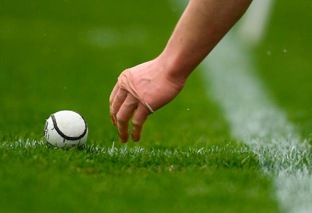 Since 1985 players have been allowed place the ball when taking sidelines. Photo: Eóin Noonan/Sportsfile