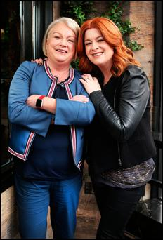 TV presenter Blathnaid Ni Chofaigh with her sister Siobhan. The siblings have been through a triptych of troubles but have managed to be there for each other as life carries on. Photo: Steve Humphreys