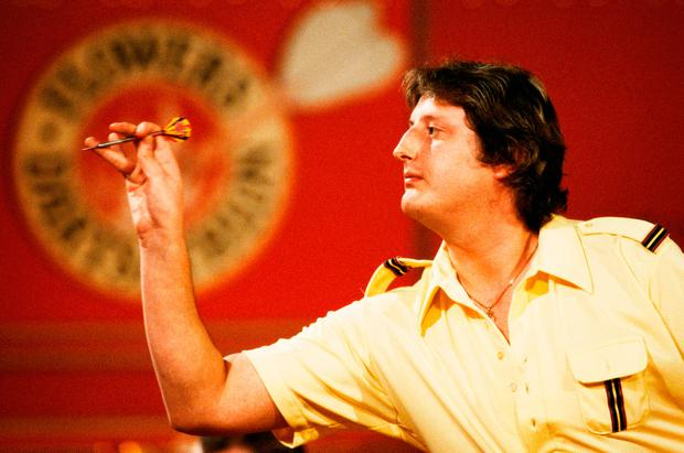 DOUBLE TOP: Eric Bristow in 1983 with his little finger cocked