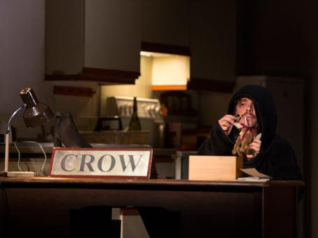 Cillian Murphy in 'Grief is the Thing with Feathers' By Max Porter Adapted and Directed by Enda Walsh. Photo: Colm Hogan