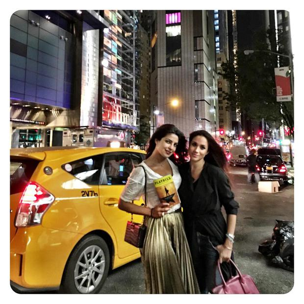 Meghan Markle and Priyanka Chopra in New York. Picture: Instagram
