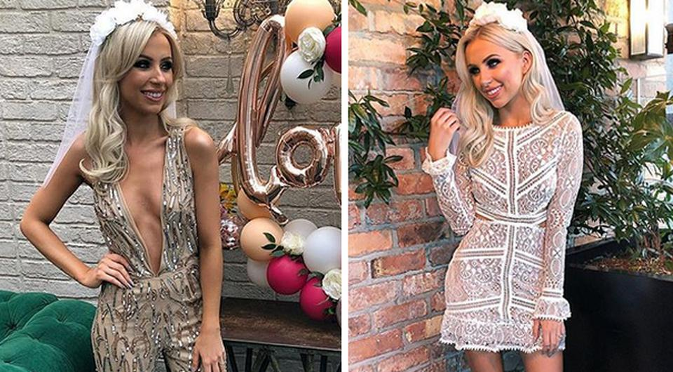 Rosie Connolly enjoyed two outfit changes at her hen party. Picture: Instagram