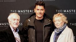 Makeup artist Mario Dedivanovic with Irish couple Des and Mona