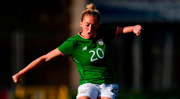 Megan Connolly will be hoping to produce another big performance against Holland. Photo: Stephen McCarthy/Sportsfile