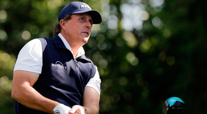Mickelson: Unhappy with his week. Photo: AP