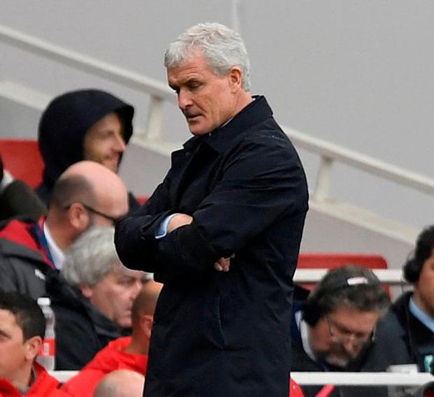 Southampton manager Mark Hughes. Photo: Tony O'Brien/Action Images via Reuters