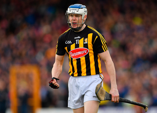 8 April 2018; TJ Reid of Kilkenny urges on his team-mates during the Allianz Hurling League Division 1 Final match between Kilkenny and Tipperary at Nowlan Park in Kilkenny. Photo by Piaras Ó Mídheach/Sportsfile