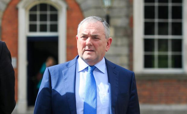 John McGuinness TD at the Disclosures Tribunal in Dublin Castle, Dublin. Picture: Gareth Chaney Collins
