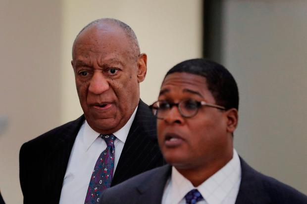 Actor and comedian Bill Cosby returns to the courtroom during the first day of his sexual assault retrial at the Montgomery County Courthouse in Norristown, Pennsylvania, U.S., April 9, 2018. REUTERS/Lucas Jackson