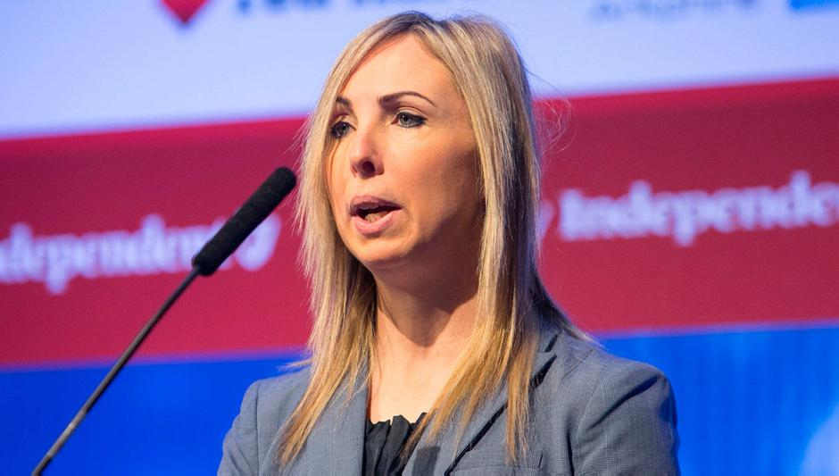 Data Protection Commissioner (DPC) for Ireland Helen Dixon during the second annual Data Protection Conference Dublin Data Sec 2018 in the RDS Concert Hall, Dublin. Photo: Gareth Chaney, Collins