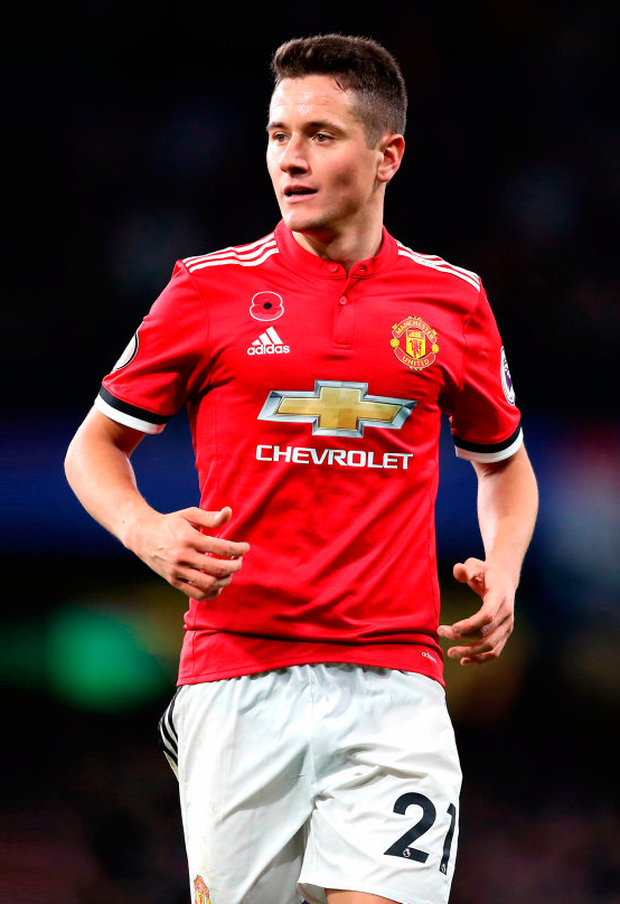 RESPECT: Manchester United midfielder Ander Herrera has strenuously denied allegations that he deliberately spat on the Manchester City crest at half-time in last Saturday's derby clash at the Etihad. Photo: PA Wire