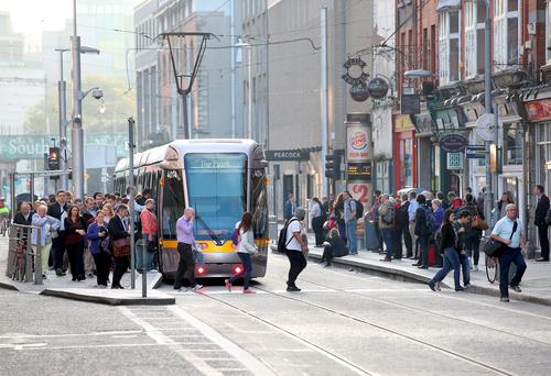Rents for properties close to Dart stations and Luas stops rose by 3pc to an average of €1,770 a month in the first three months of 2018. (stock image)
