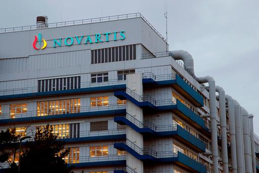 Logo of drugmaker Novartis is seen at its branch in Schweizerhalle near Basel, Switzerland