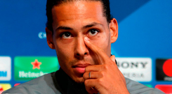 Liverpool's Virgil van Dijk. Photo: PA Wire