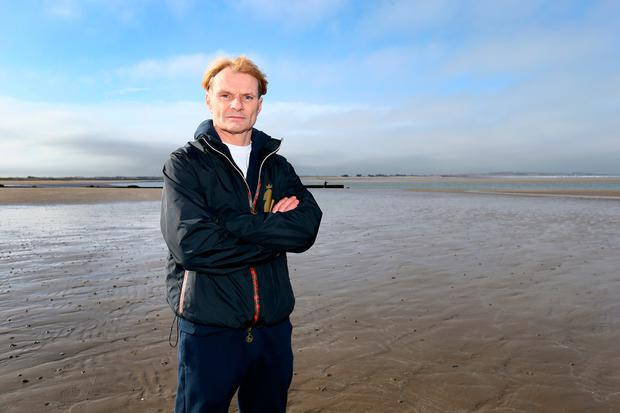 Dubliner Colin Donnelly pictured on Sutton beach. Photo: Frank McGrath