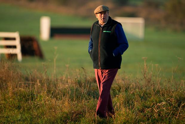Nicky Henderson on the schooling grounds.