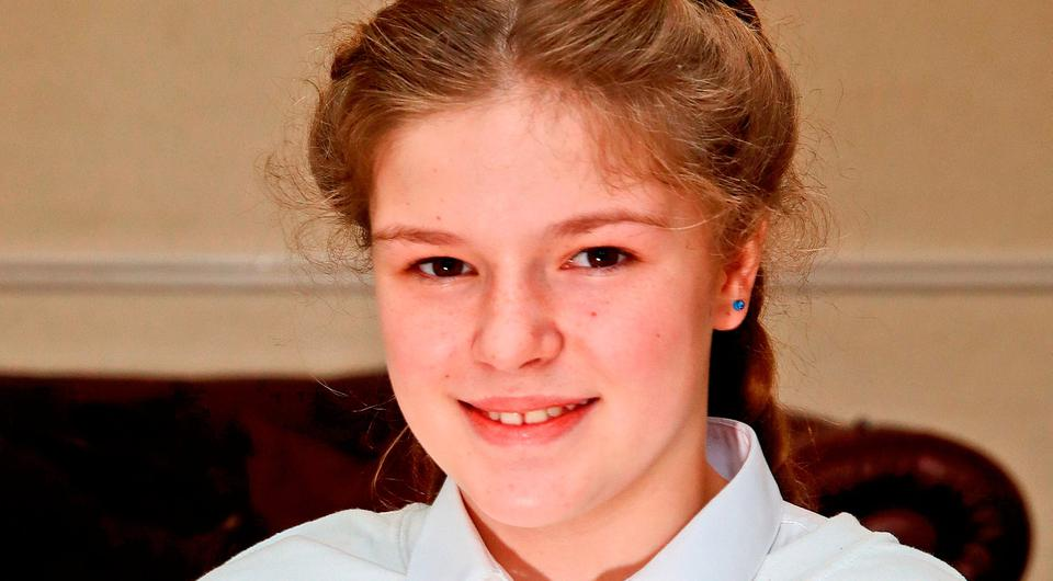 Amelia Thompson, 12, from Woodhouse in Sheffield, who has received an invitation to the wedding of Prince Harry and Meghan Markle at Windsor Castle next month. PRESS ASSOCIATION Photo. Picture date: Tuesday April 10, 2018. Amelia was caught up in the Manchester Arena attack in May 2017. See PA story ROYAL Wedding. Photo credit should read: Peter Byrne/PA Wire