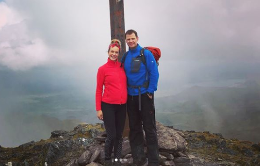 Aoibhin Garrihy and her husband John Burke at the summit of Carrauntoohil, Co Kerry earlier this week. Photo: Aoibhin Garrihy/ Instagram