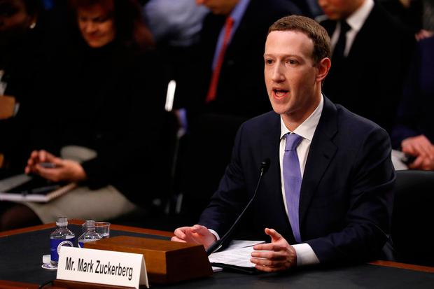 Facebook CEO Mark Zuckerberg testifies before a joint Senate Judiciary and Commerce Committees hearing regarding the company's use and protection of user data, on Capitol Hill in Washington, U.S. Photo: REUTERS