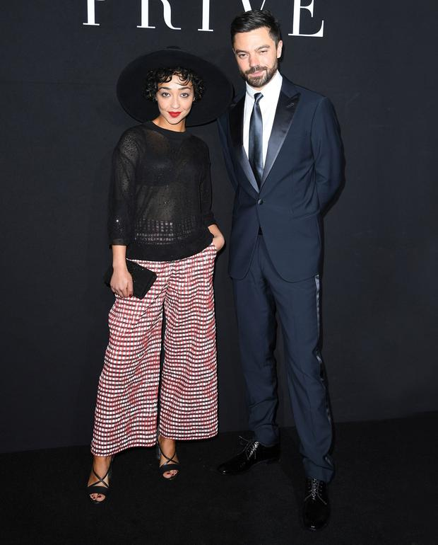 Ruth Negga and ex-boyfriend Dominic Cooper together at a fashion show before their split. Photo: Getty