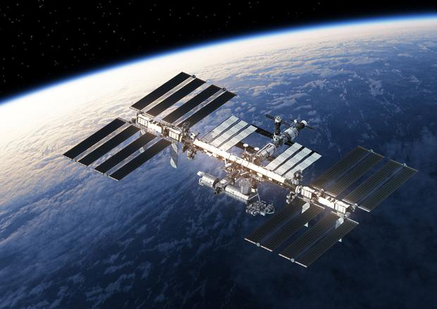 The International Space Station orbiting Earth