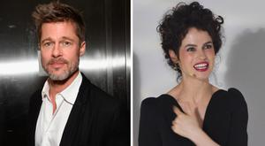 Brad Pitt, left, and architecht Neri Oxman, right