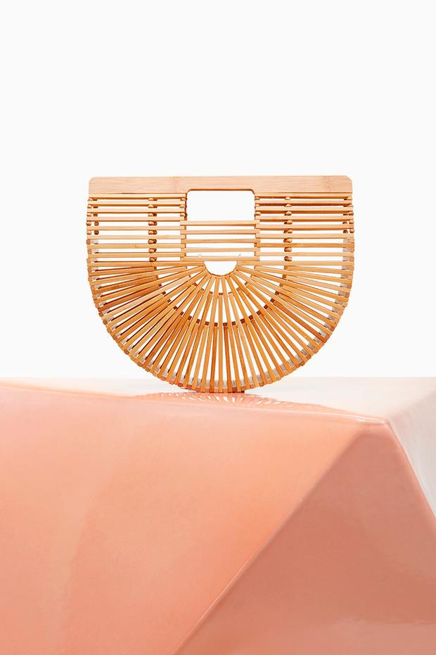 Cult Gaia Ark Bamboo Small Clutch Bag, available at Brown Thomas for €164