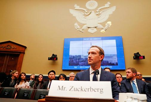 Facebook CEO Mark Zuckerberg testifies before a House Energy and Commerce Committee hearing regarding the company's use and protection of user data on Capitol Hill in Washington, U.S., April 11, 2018. REUTERS/Leah Millis