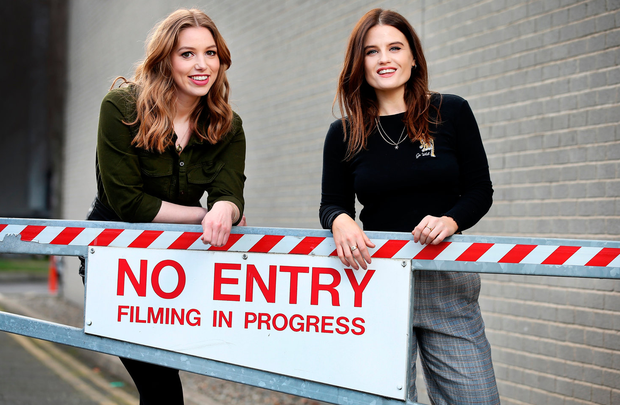 Actresses Seana Kerslake and Nika McGuigan from 'Can't Cope, Won't Cope'. Photo: Steve Humphreys