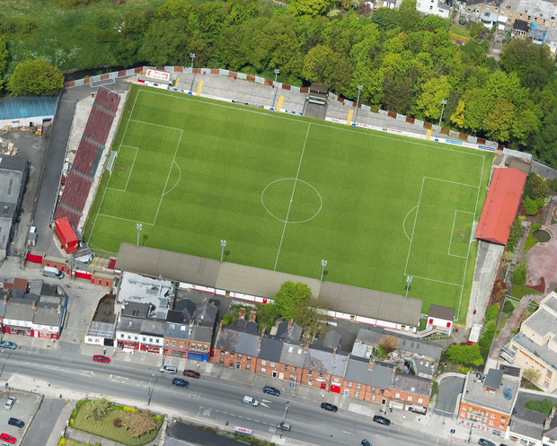 An aerial view of Richmond Park, the current home of St Patrick's Athletic. Photo: Sportsfile