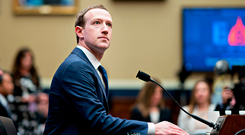 Facebook chief Mark Zuckerberg at the House Energy and Commerce Committee in Washington. Photo: Andrew Harrer/Bloomberg