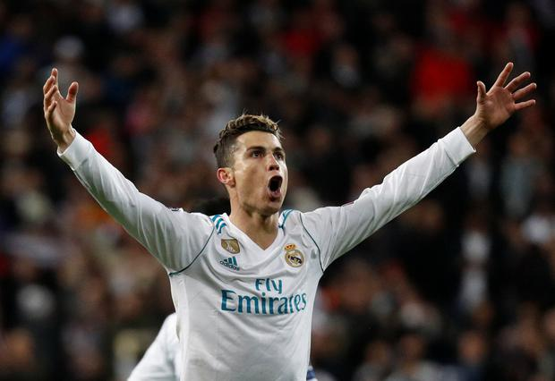 Real Madrid's Cristiano Ronaldo celebrates. Photo: Reuters