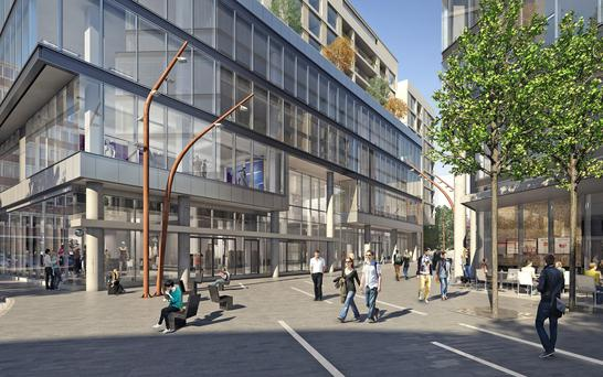 Artist's impressions of how the Comer Group's development at Number One Ballsbridge will look upon completion