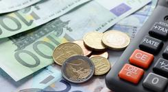 'In its latest quarterly bulletin, the Central Bank says wages will rise by 3.2pc on average this year, and by a further 3.4pc in 2019' (stock photo)