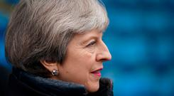 Prime Minister Theresa May during her visit to Alexander Stadium in Perry Park in Perry Barr, Birmingham, Christopher Furlong/PA Wire