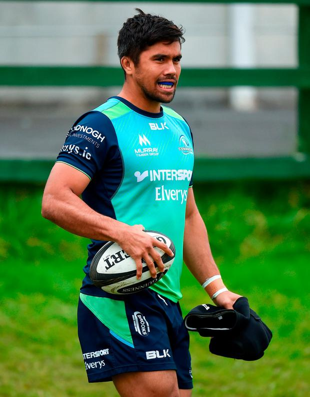 Jarrad Butler during squad training at the Sportsground in Galway. Photo: Seb Daly/Sportsfile