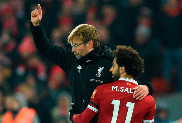 Mohamed Salah has become even more important to Jurgen Klopp did Fernando Torres was to Rafael Benitez during Liverpool's last march to the Champions League semi-finals. Photo: AFP/Getty Images