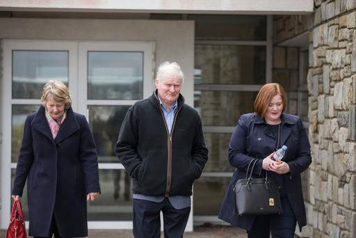 Mary, John and Niamh Fitzpatrick, parents and sister of Dara Fitzpatrick, at the inquest into the deaths of the Rescue 116 helicopter crew. Photo: Mark Condren