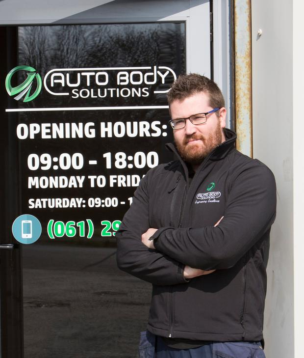 Criostoir Kelly of Auto Body Solutions, Limerick. (Photograph: Liam Burke Press 22)