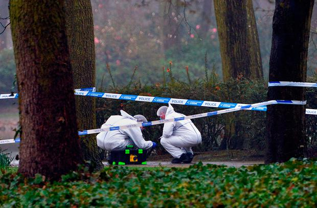 Police at the scene after a girl's body was found in West Park, Wolverhampton.PA Wire