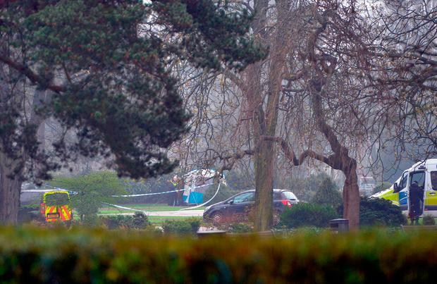 File photo dated 12/04/18 of police at the scene in West Park, Wolverhampton, where a 14-year-old girl's body was found. PA Wire